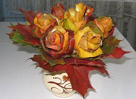 Осенние поделки. Делаем розу…