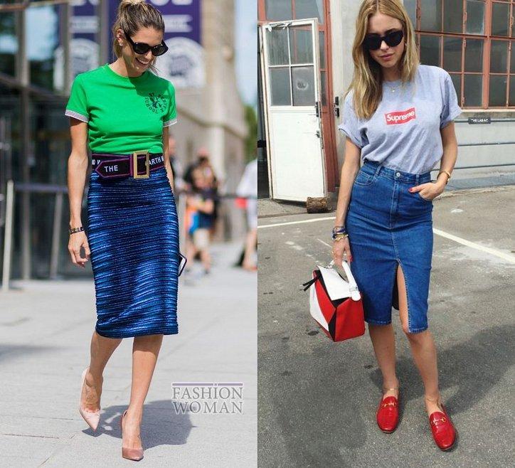 С чем носить юбку-карандаш и выглядеть модно фото №17