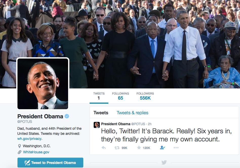 Барак Обама завел личный аккаунт в Twitter