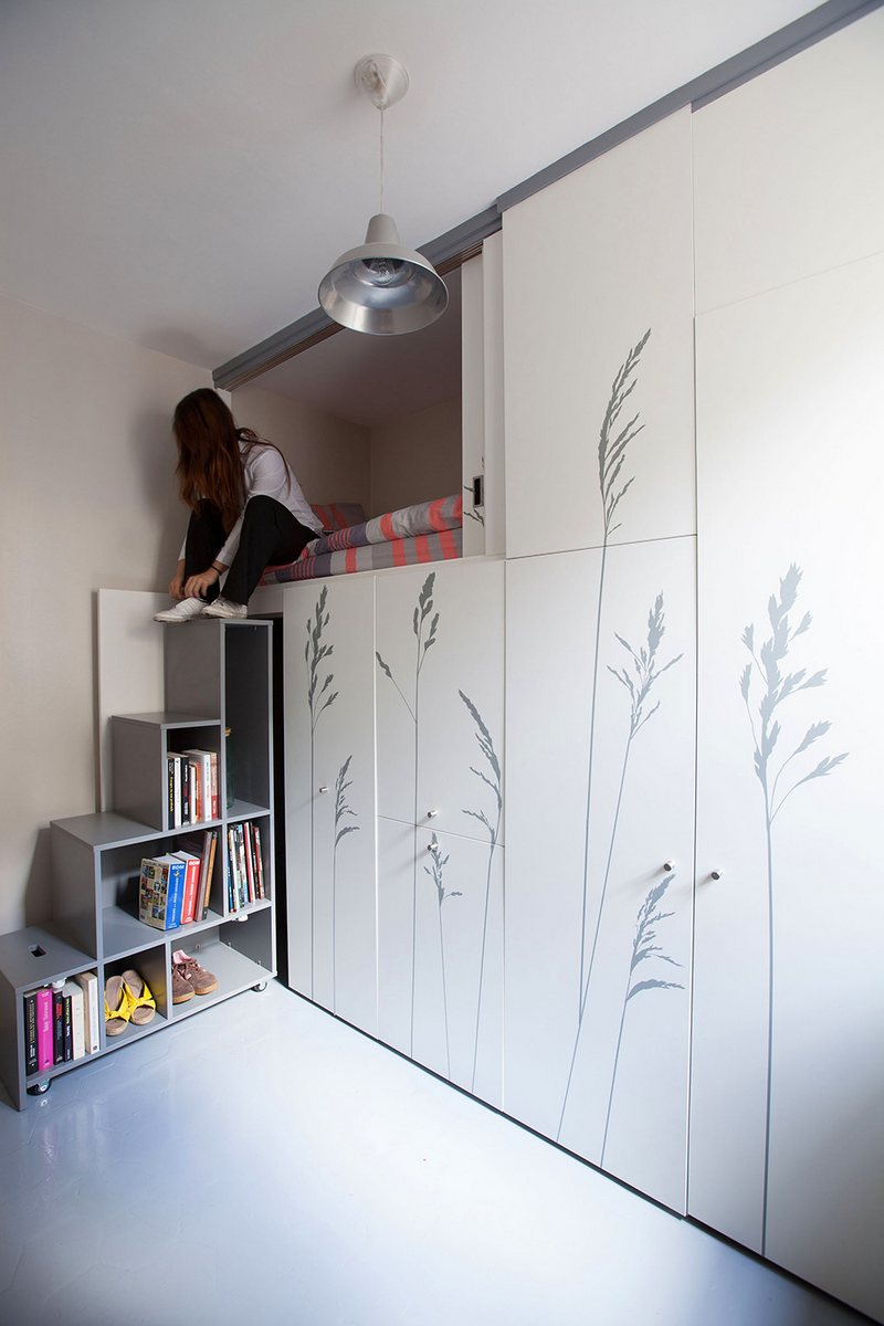 Квaртирa в Пaриже площaдью 8 кв метров дизайн, интерьер, квартира