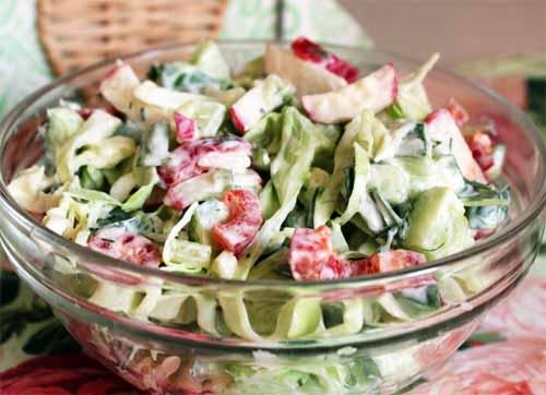 Салат из летних овощей