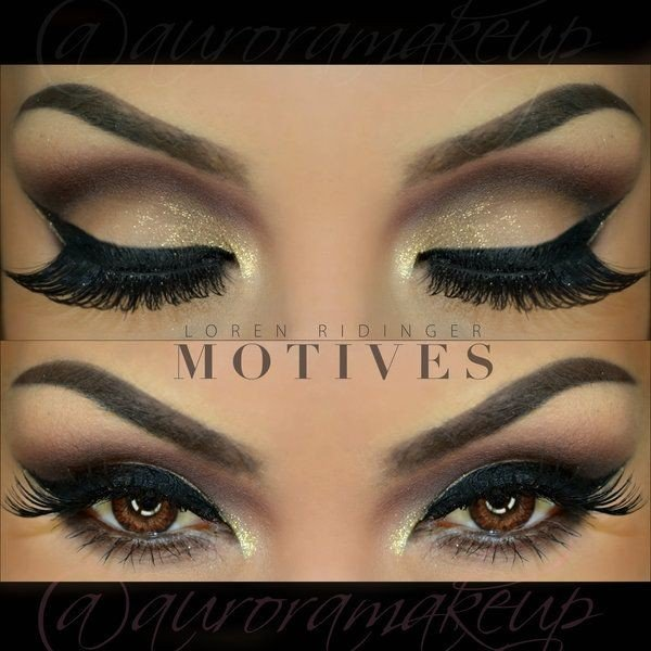 Новогодний  макияжа для карих глаз 2016!