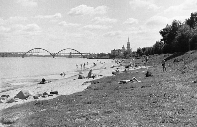 Рыбинск СССР, пляж, ретроспектива