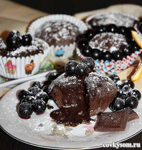 Шоколадный десерт - фонданы