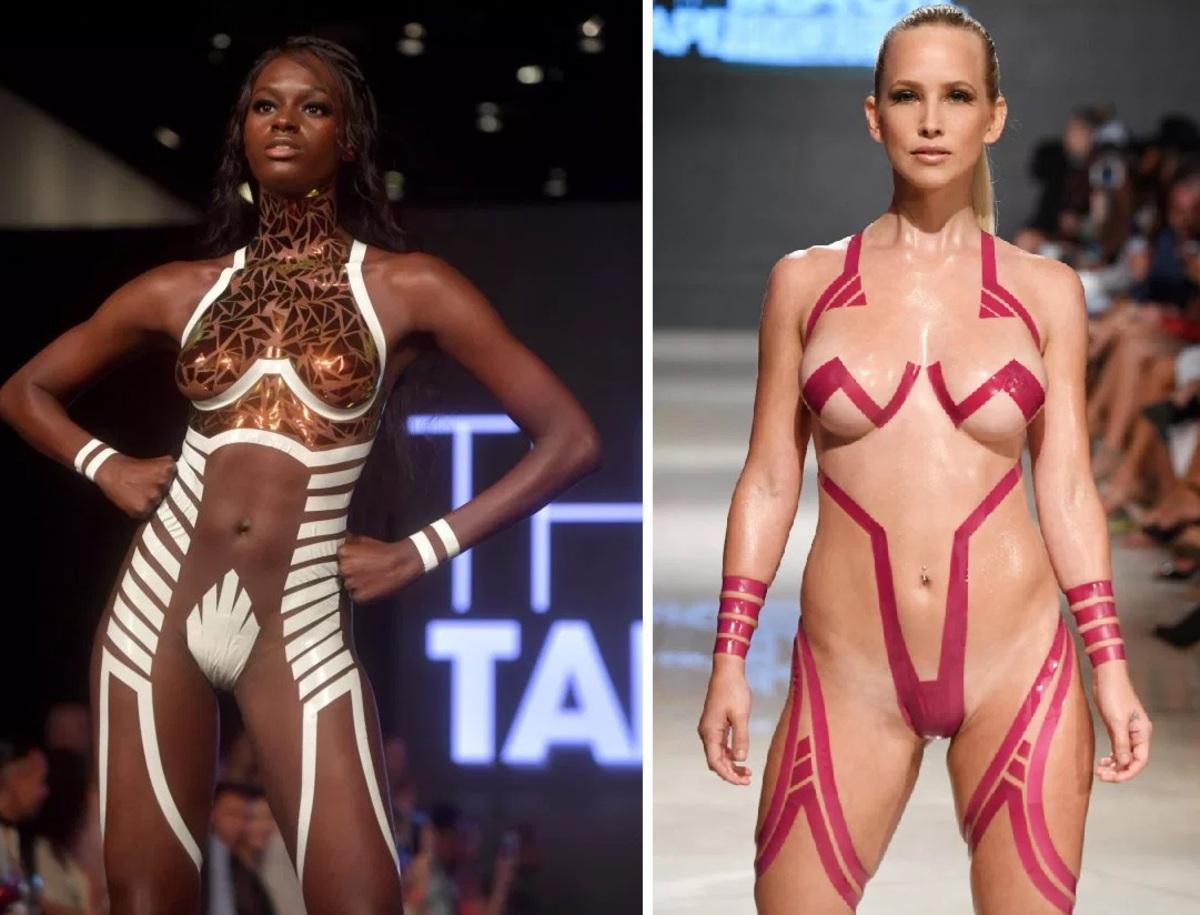Откровенные купальники из изоленты снова покоряют подиум лучшее,мода,модные советы,Наряды
