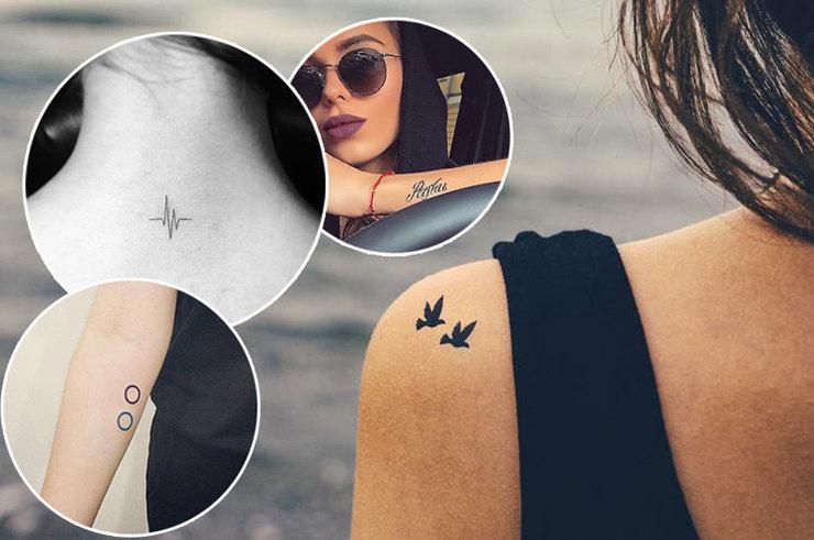 Меньше, да лучше — 5 плюсов маленьких татуировок