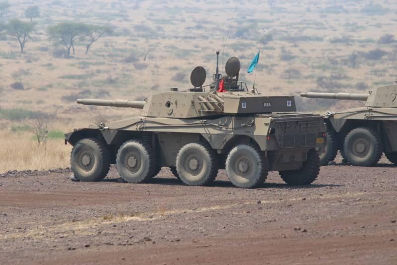 Южноафриканский колёсный танк Rooikat