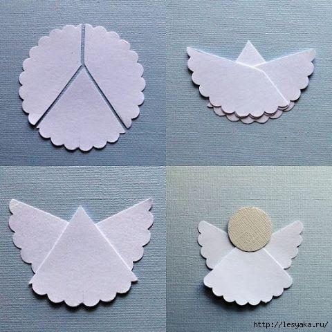 МАСТЕРИЛКА. Ангелочки из бумаги