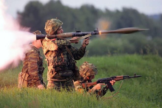 Гранатомет в действии: видео с учебных армейских стрельб