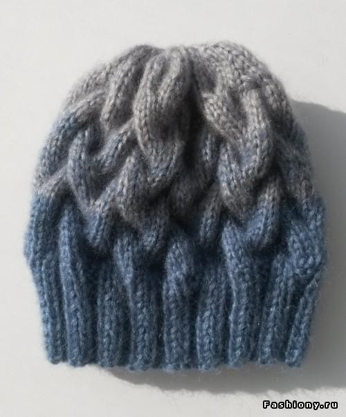 мк шапки с косами градиент