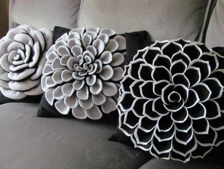 Цветы подушки своими руками