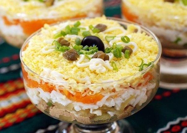 Салат слоёный «Печёнкин»