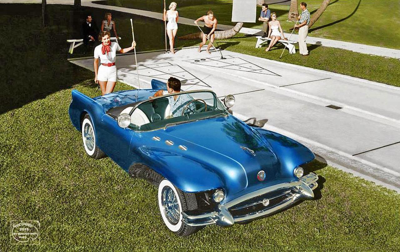 Концептуальные ретро-автомобили GM в цвете