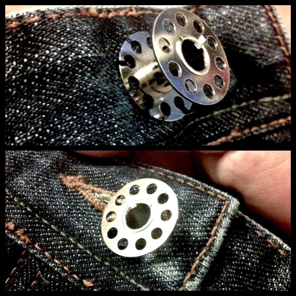 Если сломалась пуговица на джинсах