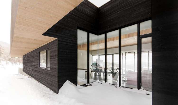 Shou-Sugi-Ban: необычное оформление фасада дома shou-sugi-ban