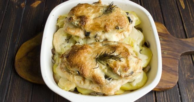Курица по-французски в духовке - новые рецепты знаменитого блюда