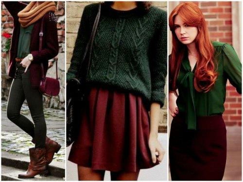 Бордовый+зеленый