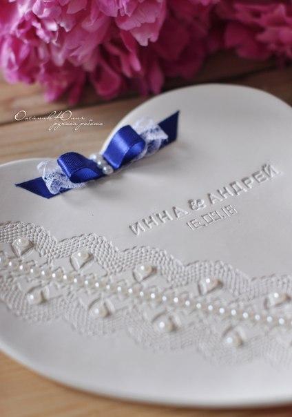 Свадебные тарелочки для колечек,прекрасная альтернатива подушечкам.