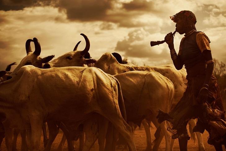 Представители эфиопских племен