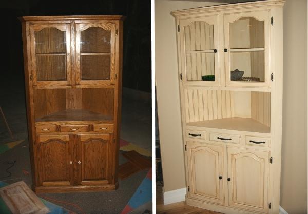 Реставрация кухонного старого шкафа своими руками
