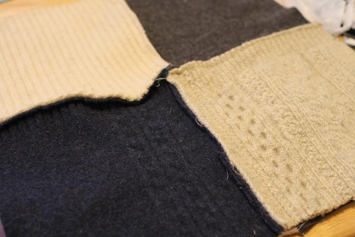 Покрывало из свитеров (DIY)
