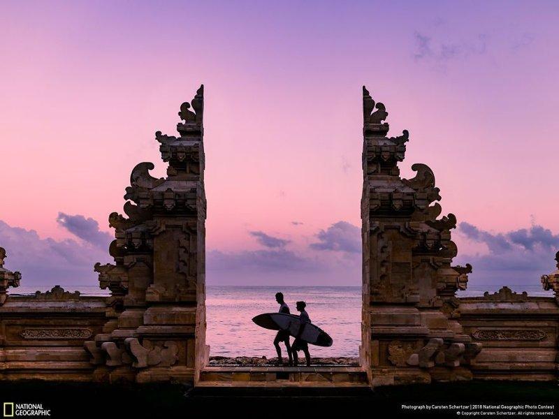 Серферы на Бали, Карстен Шерцер national geographic, конкурс, красота, природа, удивительно, фото, фотография, фотоподборка