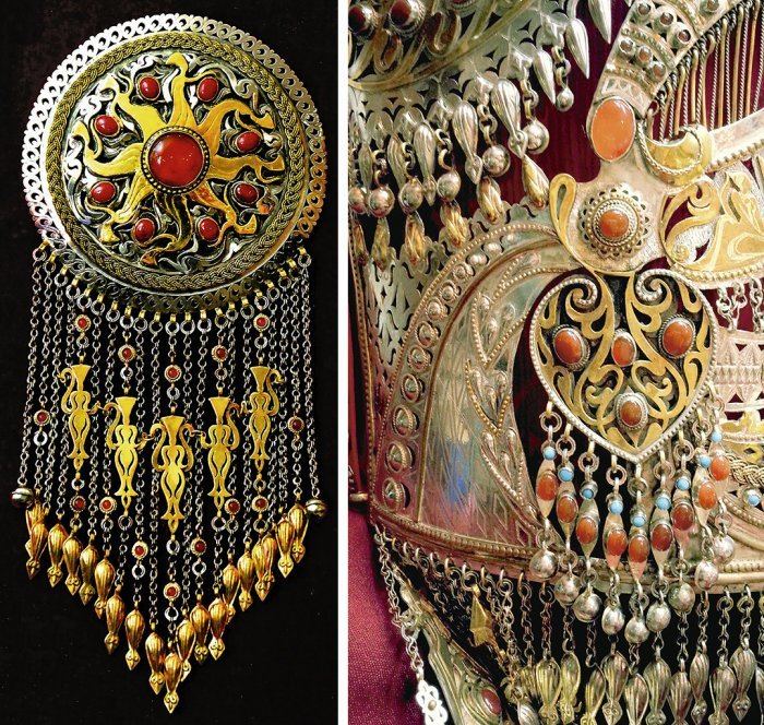 цените прекрасное, туркменские национальные украшения фото это участок, который
