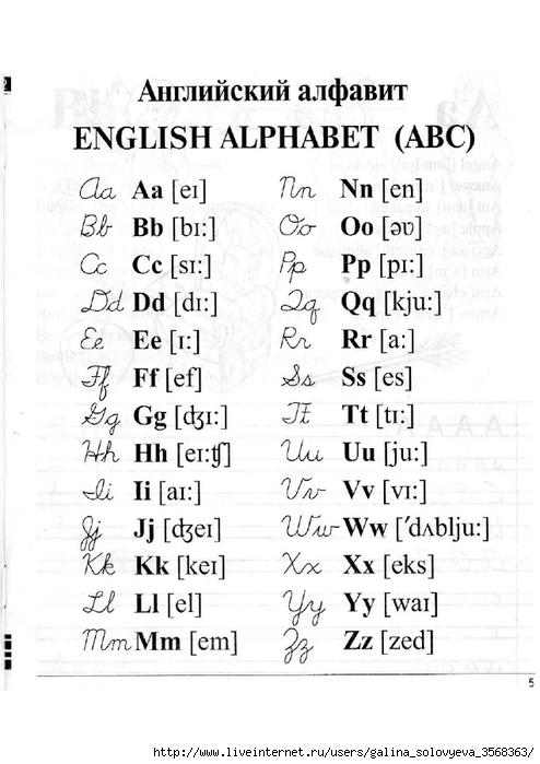Английский язык Прописи