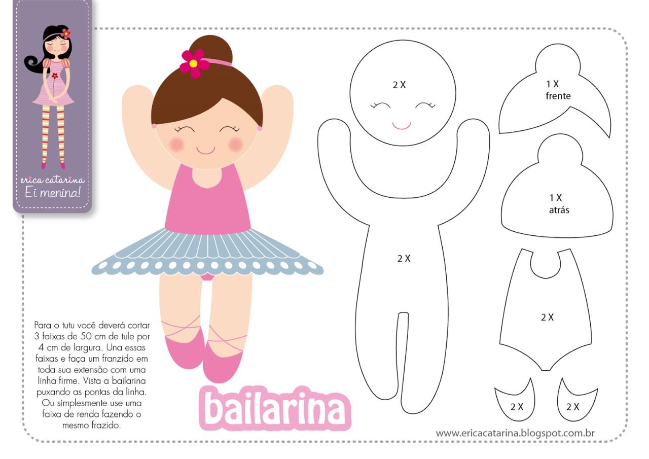 Девочка-балерина из фетра