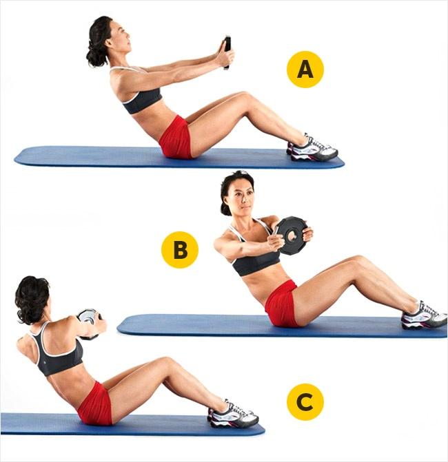 Уменьшить талию упражнения картинках