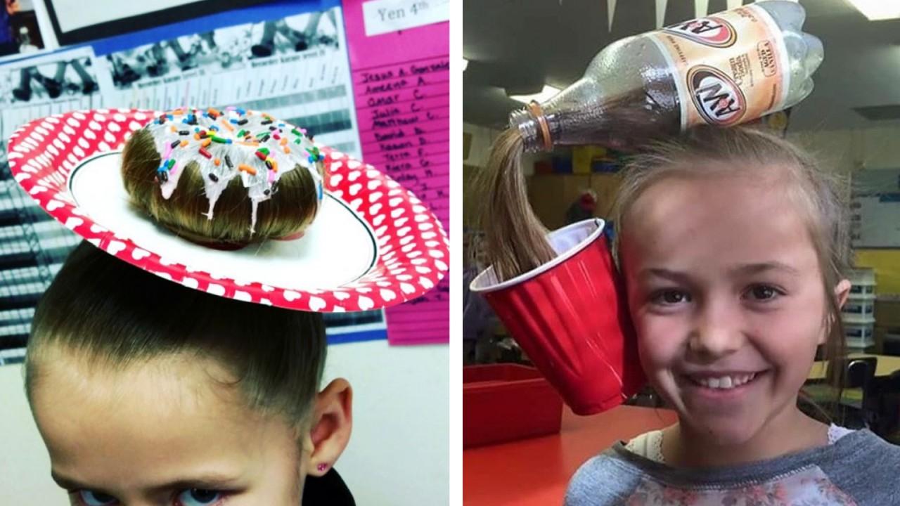 Безумные причёски детей, сделанные родителями