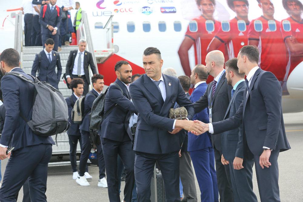 Сборная Египта по футболу прибыла в Грозный