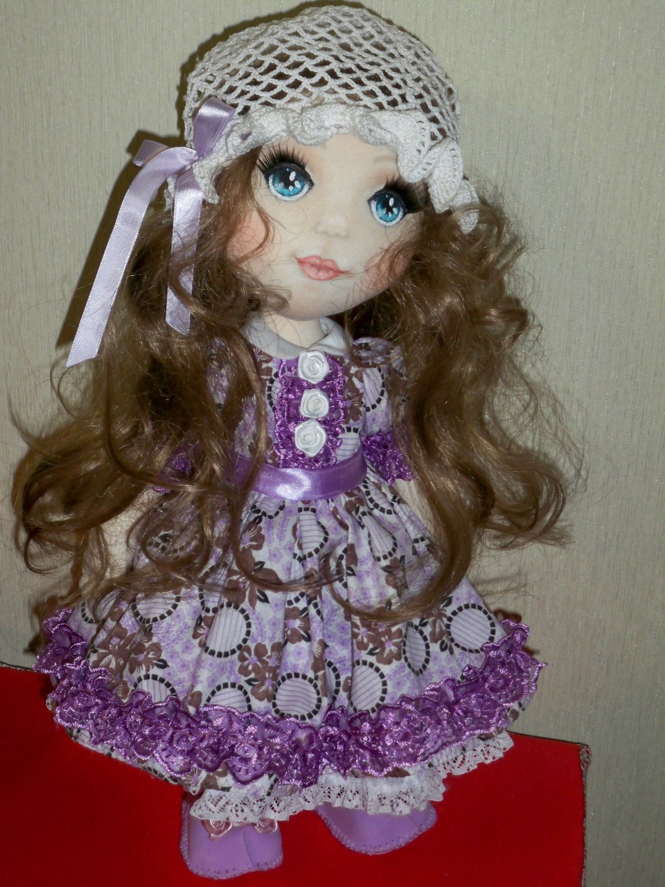 Моя интерьерная текстильная кукла ДАШЕНЬКА.
