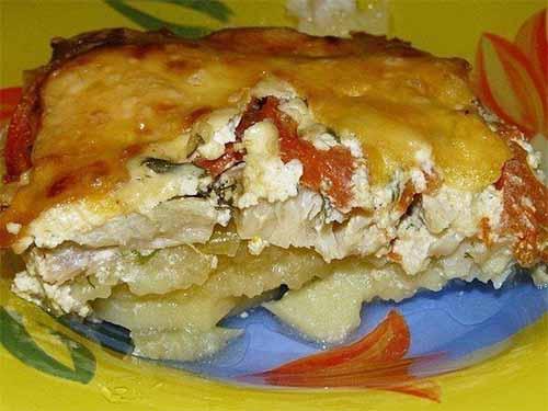 Картофельная запеканка с рыбкой