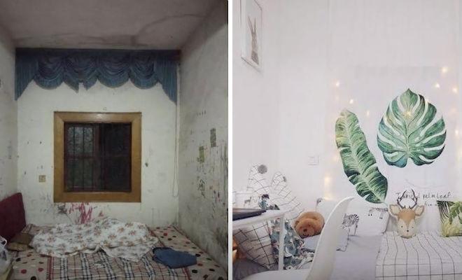 Студентку поселили в самую грязную комнату в общежитии: за месяц она превратила ее в квартиру мечты Культура