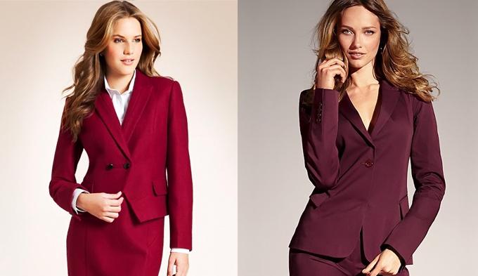 красный классический женский костюм купить
