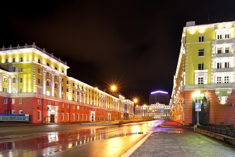 фото города норильска.