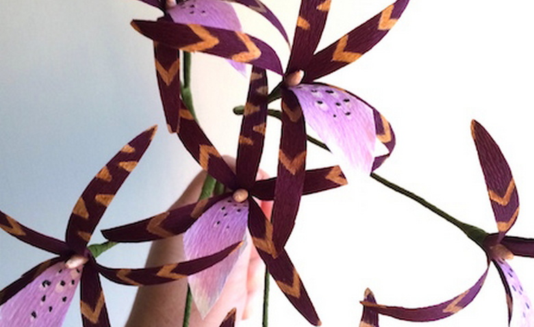 """Создаем изумительную """"паучью орхидею"""" из бумаги"""