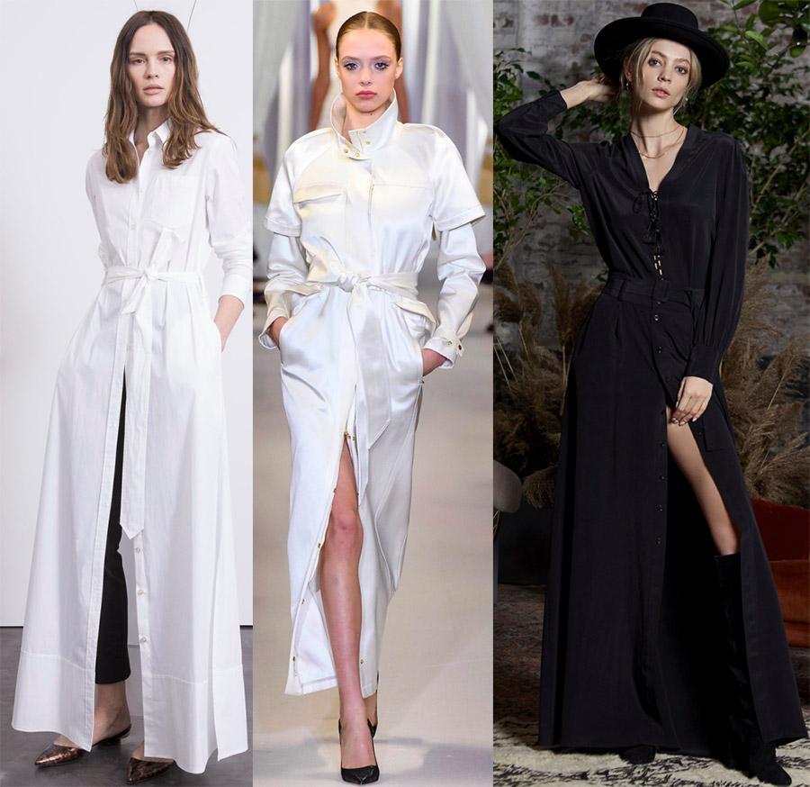 Платье-рубашка: с чем носить