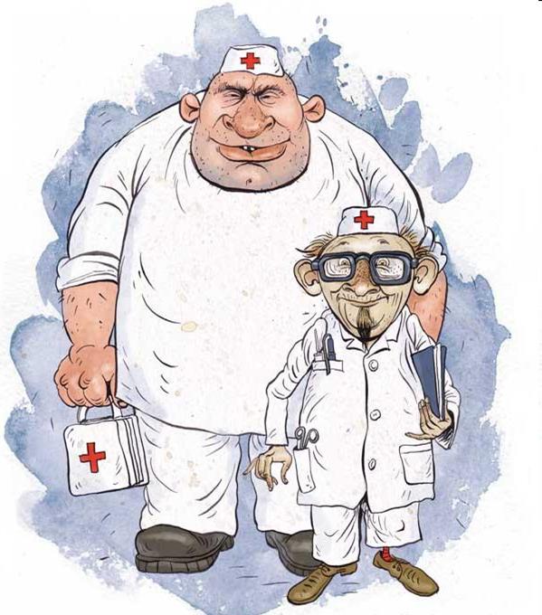Смешная картинка медика, юбилей