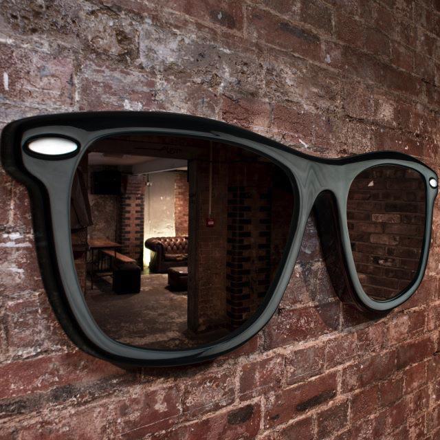 Стильное настенное зеркало гаджет, дизайн, креатив