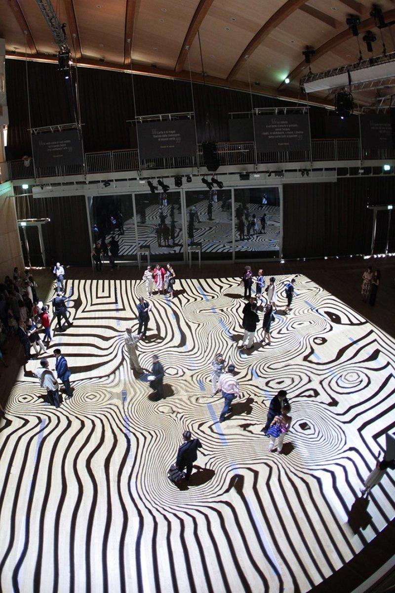 Miguel Chevalier создал эту инсталляцию в Милане инсталляции, искусство, психоделика, сломай мозг, странное, художники
