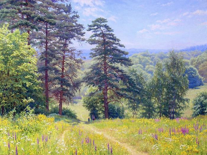 Русские пейзажи Геннадия Кириченко Живопись