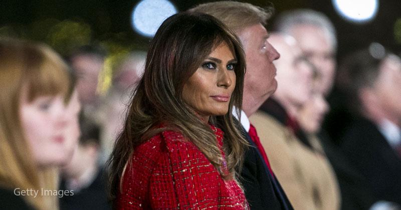 Мелания Трамп восхитила модным платьем-коконом с пышными рукавами