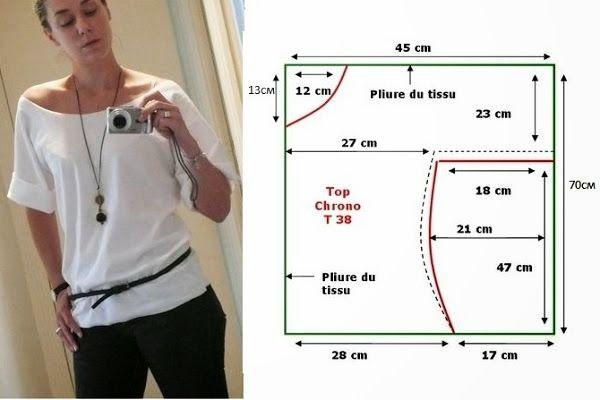 Moda электронной Dicas де Costura: CAMISOLA Facil DE FAZER