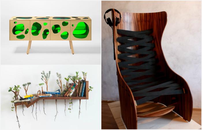 Стильные предметы мебели для современного интерьера.