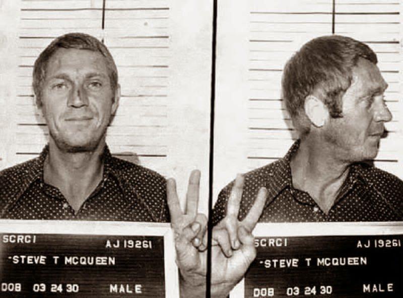 Стив МакКуин. 1972 год. Вождение в нетрезвом виде. арест, звезды, полиция, правонарушение