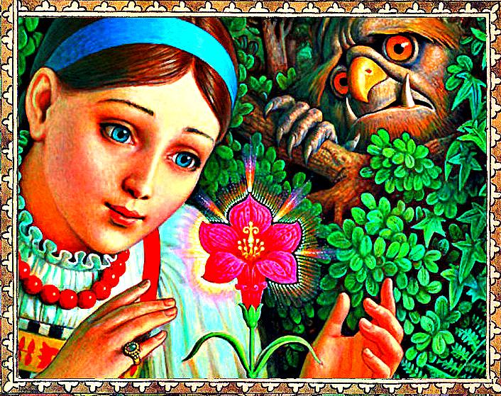 иллюстрации к сказке аленький цветочек картинки словно забыли