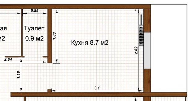 """Кухня: мебель """"под дерево"""" и ромашки на фартуке"""