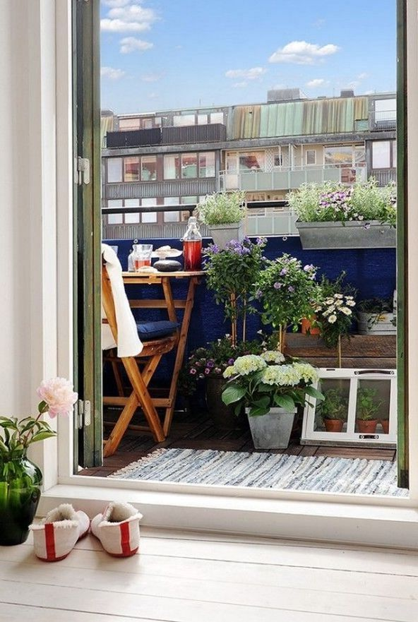 скандинавский открытый балкон
